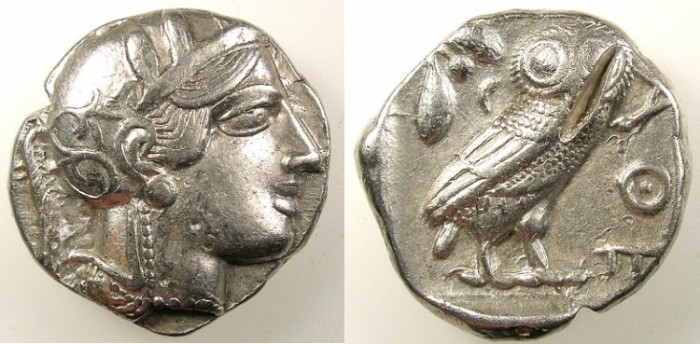 Ancient Coins - ATTICA.ATHENS.After 449 BC.AR.Tetradrachm.Athena.Rev.Owl