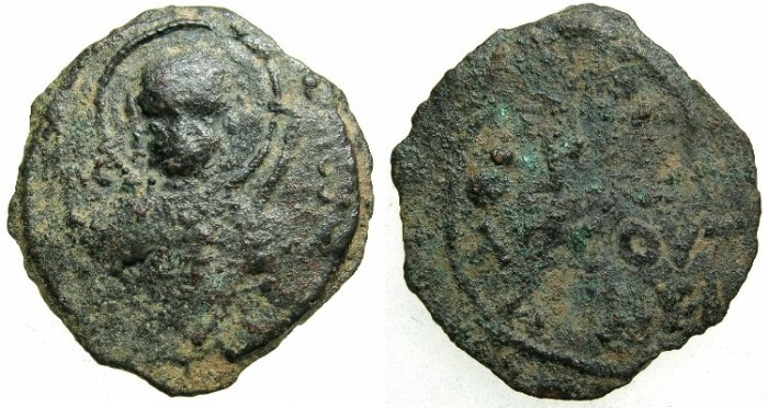 Ancient Coins - CRUSADER.Principality of Antioch.Tancred AD 1104-1112.AE.Follis.1st type.