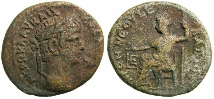 Ancient Coins - EGYPT.Nero AD 56-58.Bi.Tetradrachm.AD 58/59.Mint of ALEXANDRIA.Revese.Emperor seated.