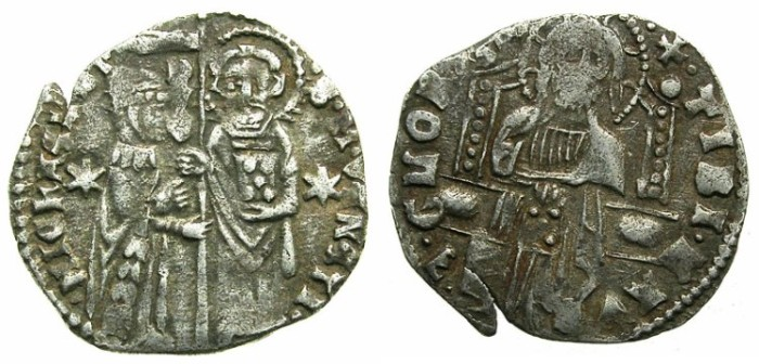 Ancient Coins - ITALY.VENICE.Michele Steno AD 1400-1413.AR.Grosso.