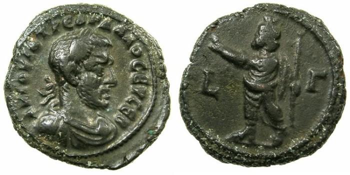 Ancient Coins - EGYPT.ALEXANDRIA.Trebonius Gallus AD 251-253.Billon Tetradrachm, struck AD 252/53.~#~.Serapis standing. ****RARE COINAGE FOR ALEXANDRIA *****