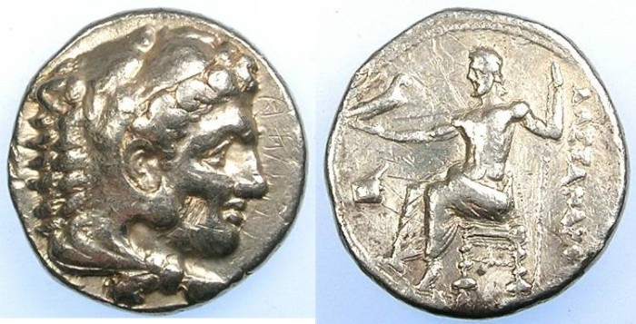 Ancient Coins - MACEDONIAN EMPIRE.Alexander III The Great 336-323 BC.AR.Tetradrachm.Soli mint, Cyprus.