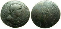 Ancient Coins - MACEDON.THESSALONIKI.Carcacalla AD AD 198-217.AE.~~~Laurate and cuirassed bust of CARACALLA.~#~Victory ( Nike )