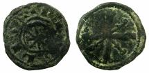 World Coins - CRUSADER.County of TRIPOLI.Raymond III AD 1152-1187.Anonymous issue.AE.Fraction.Type 2.