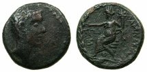 Ancient Coins - COELE-SYRIA.DAMASCUS.Octavian ( later Augustus 27BC-AD14).AE.22mm, stuck 30/29 BC~#~.Tyche of DAMASCUS.
