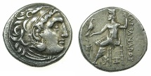Ancient Coins - MACEDONIAN EMPIRE.Alexander III The Great 336-323.AR.Drachma, posthumus issue circa 310-circa 301 BC. Mint of ABYDUS.
