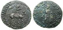 Ancient Coins - INDO SKYTHIAN.Azes circa 58-12BC.AR.Tetradrachm.~#~.Athena standing right