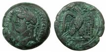 Ancient Coins - EGYPT.ALEXANDRIA.Antoninus Pius AD 138-161.AE.Drachma, struck AD 153/54.~#~.Eagle standing facing, head left. ****This reverse type struck only in Years 17 and 20