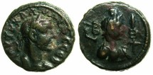Ancient Coins - EGYPT.ALEXANDRIA.Claudius II Gothicus AD 268-270.Billon Tetradrachm.Struck AD 269/70.~#~.Bust of HERMANUBIS.