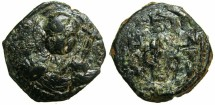 World Coins - CRUSADER.Principality of ANTIOCH.Tancred AD 1104-1112.AE.Follis.1st type.small module.