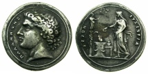 Ancient Coins - Palamedes.Cast.white metal Medallion late 18th-early 19th cent, after Valerio Belli ( c.1468-1546 )