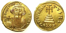 Ancient Coins - BYZANTINE EMPIRE.Constans II AD 641-668.AV.Solidus.Mint of CONSTANTINOPLE.