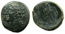 Ancient Coins - SICILY.SYRACUSE.Hiketas II 287-278 BC.AE.25.6mm