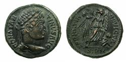 Ancient Coins - ROMAN.Constantine I the Great AD 306-337.AE.Follis.Mint of SIRMIUM. Detailed reverse.SAMANTIA DEVICTA