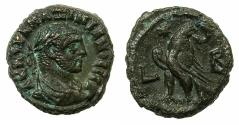 Ancient Coins - EGYPT.ALEXANDRIA.Maximianus Heraclius AD 286-305.Billon Tetradrachm, struck AD 286/87.Reverse. Eagle left on thunderbolt, head reverted.