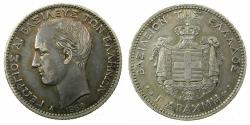 World Coins - GREECE, Kingdom.George 1863-1913.AR. 1 Drachma.1868.Paris mint.
