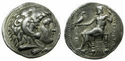 Ancient Coins - EGYPT.Ptolemy I as Satrap of Egypt 323-305 BC.AR.Tetradrachm.Mint of MEMPHIS. Thunderbolt symbol.