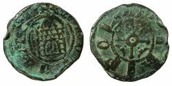 World Coins - CRUSADER.County of Tripoli.attributed to Raymond III AD 1173-1187.AE. Castle type.1a.