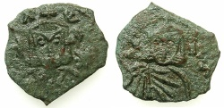 Ancient Coins - BYZANTINE EMPIRE.SICILY.Leo V The Armenian AD 813-820 with Constantine Augustus from AD 813.AE.Follis.Mint of SYRACUSE.