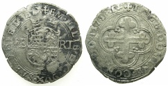 World Coins - ITALY.SAVOY.Emanuele Filiberto AD 1559-1580.Billon Bianco ( or 4 Soldi) 1573.1st Type.Mint of TORINO.