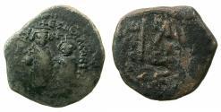 Ancient Coins - BYZANTINE EMPIRE.Heraclius AD 610-641.AE.Follis.struck circa AD 612/13-614/5.Mint of CONSTANTINOPLE.