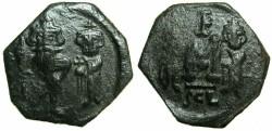 Ancient Coins - BYZANTINE EMPIRE.SICILY.Constans II AD 641-668.AE.Follis.Mint of SYRACUSE.