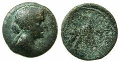 Ancient Coins - EGYPT.Cleopatra VII Thea 51-30 BC.AE.80 Drachma.Mint of ALEXANDRIA.