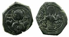 Ancient Coins - BYZANTINE.Andronicus I Comnenus AD 1183-1185.AE.Tetarteron.Mint of THESSALONIKI.