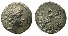 Ancient Coins - SELEUCID EMPIRE.Antiochus VI Dionysos 144-142/1 BC.AR.Drachma.Mint of APAMEA.