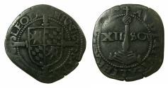 World Coins - SOUTHERN NETHERANDS.LEIGE.Ernest of Bavaria AD 1581-1612.AE.Bruele of 12 Sols.N.D.