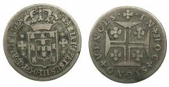 World Coins - PORTUGAL.Maria I and Pedro III 1777-1786.AR.3 Vintens ( 60 Reis ).N.D.Mint of LISBON.