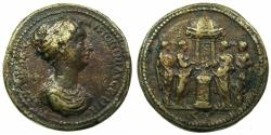 Ancient Coins - ROME.Faustina Junior Augusta AD 147-175.AE.Cast Medallion 35mm.Paduan after Giovanni da Cavino ( AD 1500-1570 ).