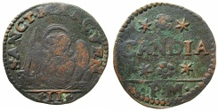World Coins - VENICE.Regio di Candia (CRETE).Domenico Contarini AD 1659-1675.AE.2 Gazzettas.