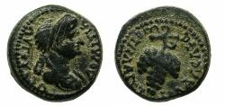 Ancient Coins - FLAVIA PHILADELPHIA.Domitia, wife of Domitian Augusta AD 82-96.AE.15.2mm. ~#~ Grape bunch.