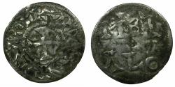 World Coins - FRANCE.CARLOLINGIAN.Robert I - Lothaire circa AD 922-1000.AR.Denier.Imobolized issue in the name of Charles the Simple.Metallo ( Melle ) mint.