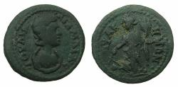 Ancient Coins - MYSIA.LAMSPACUS.Julia Mamaea Augusta AD 222-235.AE.21.1mm. ~#~. Tyche standing.