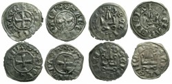 World Coins - CRUSADER STATES.GREECE.Principality of ACHAIA.Isabelle de Villehardouin AD 1289-1291.Billon deniers 4 principal types.