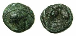 Ancient Coins - ATTICA.ATHENS.Circa 3rd cent BC.AE.13mm. Reverse. Two Owls.