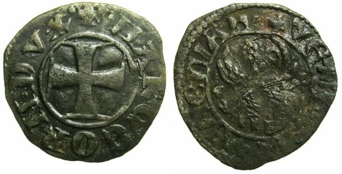 Ancient Coins - CRUSADER.GREECE under VENICE.Marco Corner  AD 1365-1368.Bi.Tornesello.