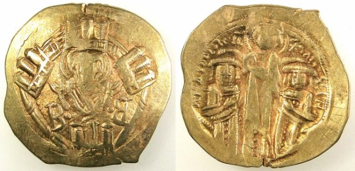 Ancient Coins - BYZANTINE EMPIRE.Andronicus II and Michael IX AD 1295-1320.AV.Hyperpyron.Mint of Constantinople.