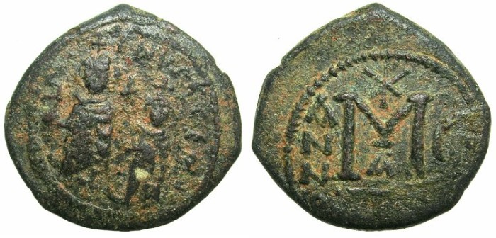 Ancient Coins - BYZANTINE EMPIRE.Heraclius AD 610-641.AE.Follis.Mint of SELEUCIA ISAURIAE