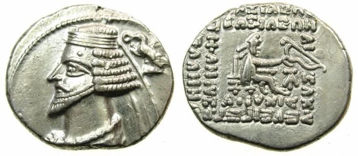 Ancient Coins - PARTHIA.Phraates IV 38-2 BC..AR.Drachma.Mint of EKBATANA.