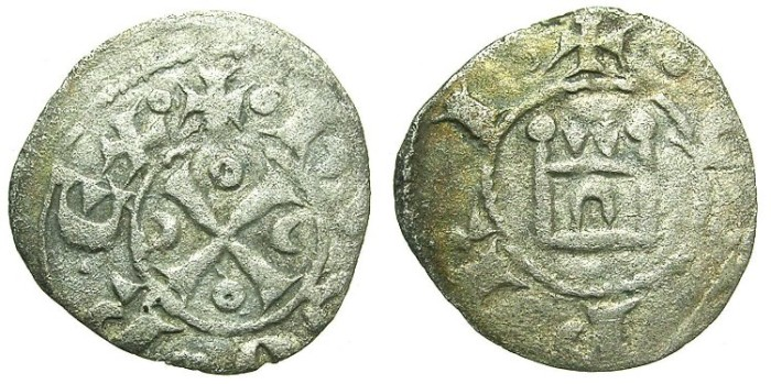 Ancient Coins - CRUSADER.CYPRUS.Hugh I AD 1205-1218.Bi.Denier.Type 5b.
