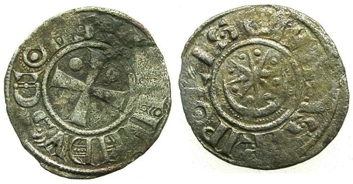 Ancient Coins - CRUSADER.TRIPOLI.Raymond II AD 1137-1187.Bi.Denier.Type 2.