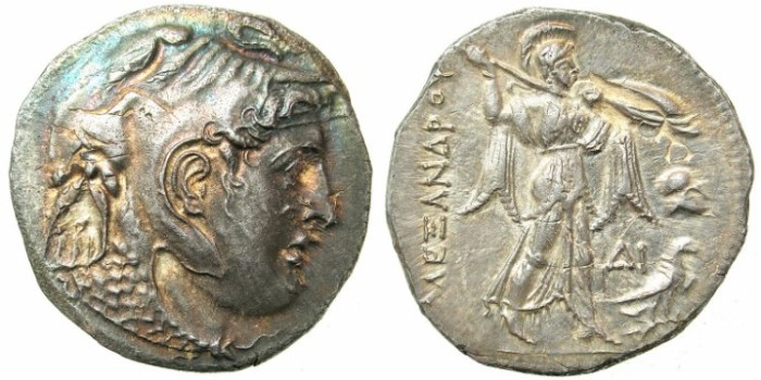 Ancient Coins - PTOLEMAIC EMPIRE.ALEXANDRIA.Ptolemy I as Satrap of Egypt 323-305 BC.AR.Tetradrachm.Head of Alexander The Great / Athena Alkidemos