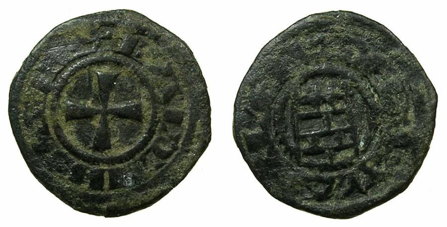World Coins - CRUSADER STATES.Kingdom of JERUSALEM.Baldwin II, III or IV circa AD 1118-1185. Billon obol.
