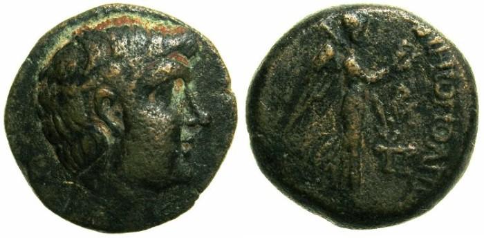 Ancient Coins - CILICIA.SOLI-POMPEIOPOLIS.Circa 66-48 BC.AE.21.~~~Head of Pompeius Magnus.~#~Nike.
