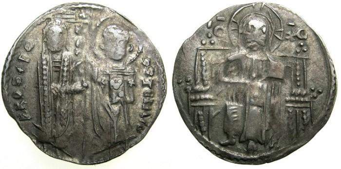 Ancient Coins - SERBIA.Stefan Uros II Milutin 1282-1321.AR.Dinar ( Grosh ).