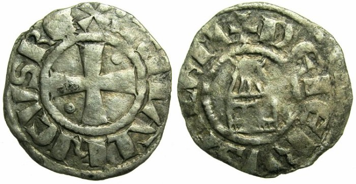 Ancient Coins - CRUSADER.JERUSALEM.Amaury AD 1163-1174.Bi.Denier.