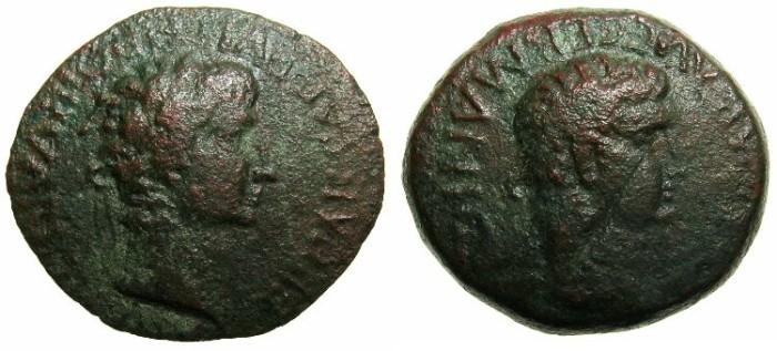 Ancient Coins - CRETE.KNOSSOS.Gaius Caligula AD 37-41.AE.21.Pulcher III Varius IIviri.
